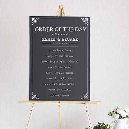 Sadie Order of the Day Sign