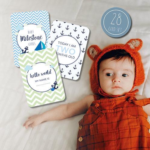 Nautical Baby Milestone Cards