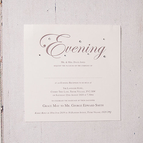 Emma Flat Evening Invitation