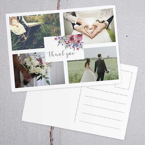 Flora Thank You Postcard