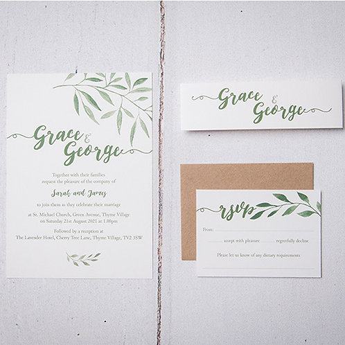 Sorrento Wedding Invitation Bundle