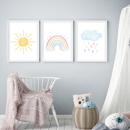 Weather Nursery Print Set