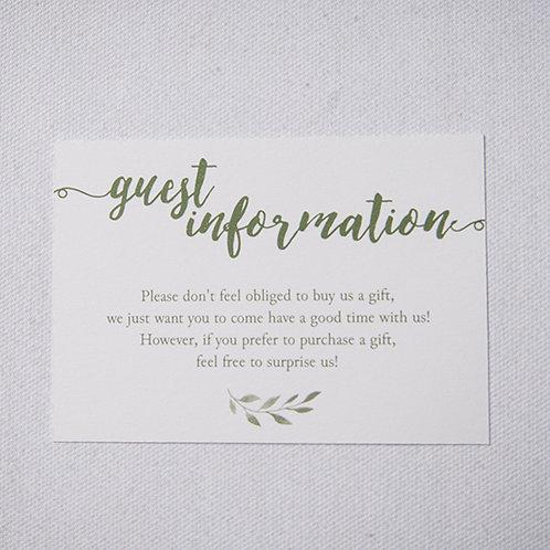 Sorrento Information Card