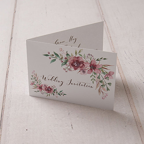 Belle Folded Wedding Invitation