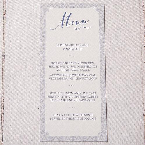 Mabel Table Menu