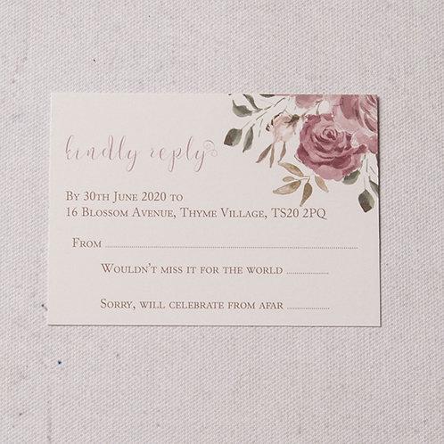 Jessica Reply Card