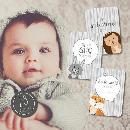 Woodland Baby Milestone Cards