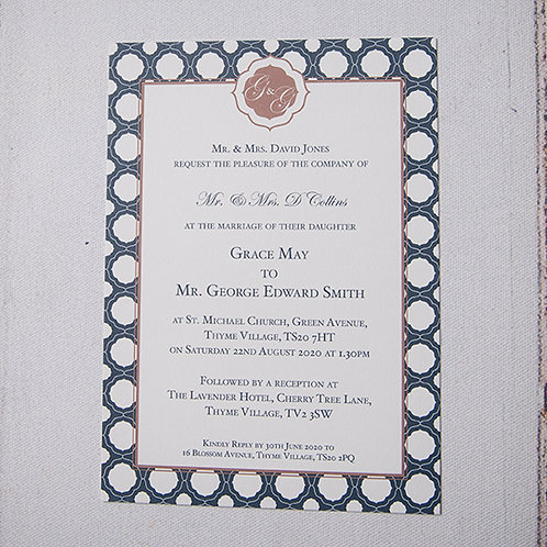 Milan Flat Wedding Invitation