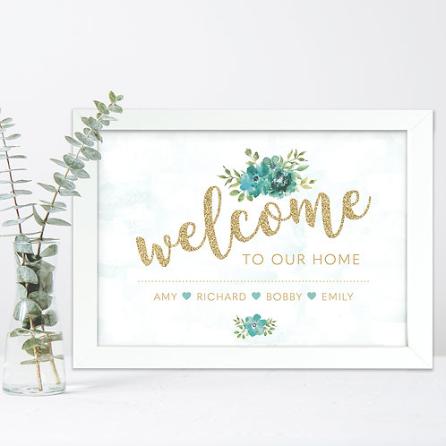 Welcome to our Home Personalised Print