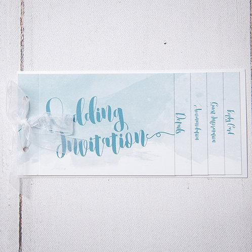 Theodora Cheque Book Style Wedding Invitation