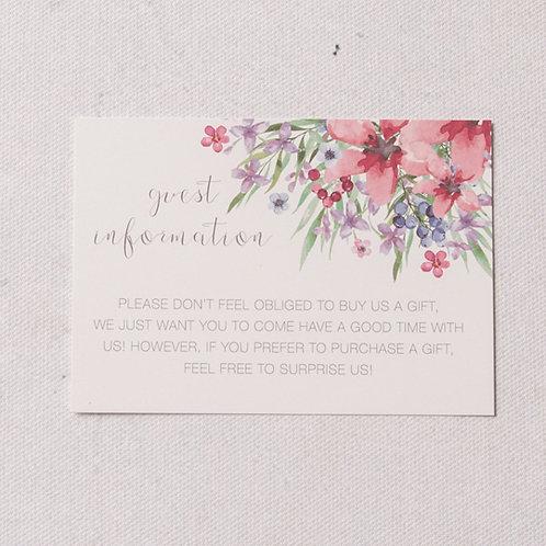 Flora Information Card