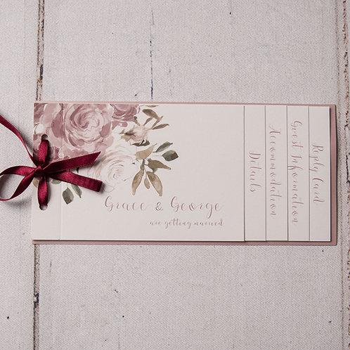 Jessica Cheque Book Style Evening Invitation
