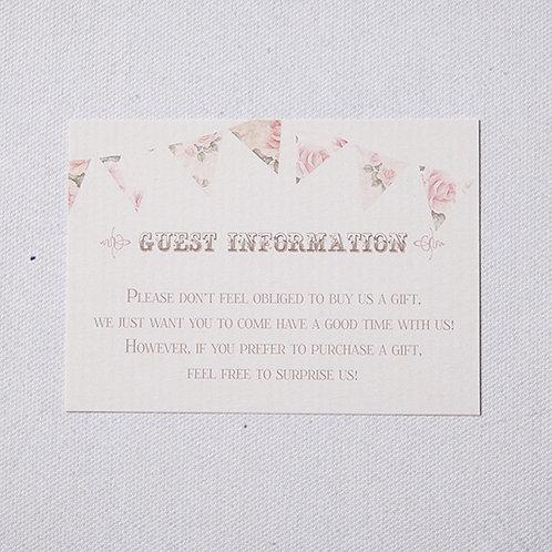Savannah Information Card