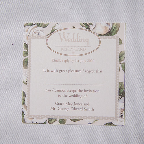 Rose Reply Card