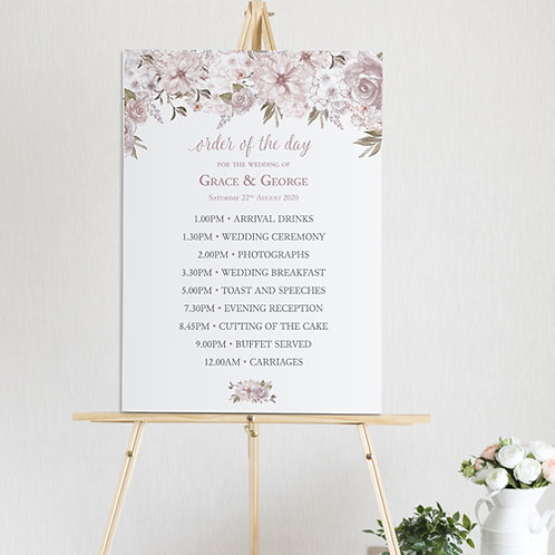 Summer Order of the Day Sign