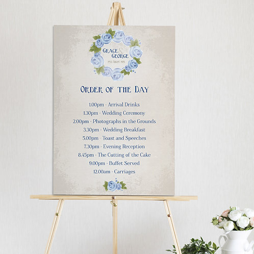 Polly Order of the Day Sign