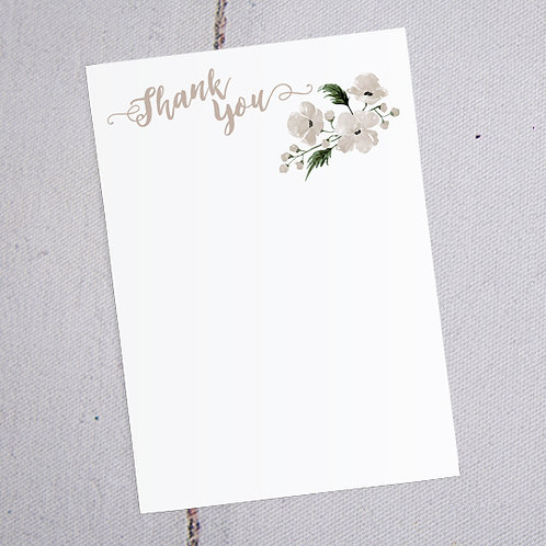 Florence Thank You Note Cards