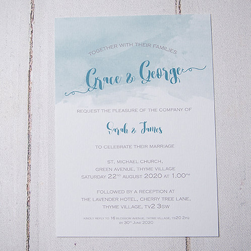 Theodora Flat Wedding Invitation