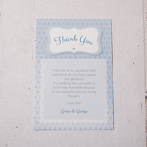 Dotty Thank You Flat Card