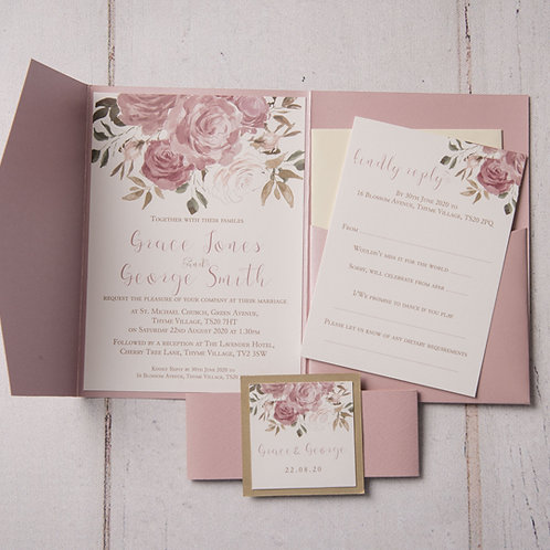 Jessica Pocket Wedding Invitation