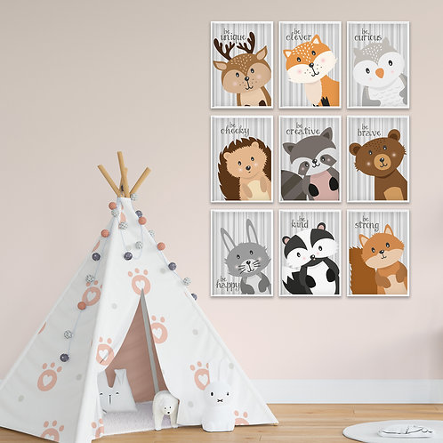 Be... Woodland Collection Print Set
