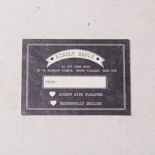 Harper Reply Card