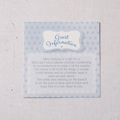 Dotty Information Card