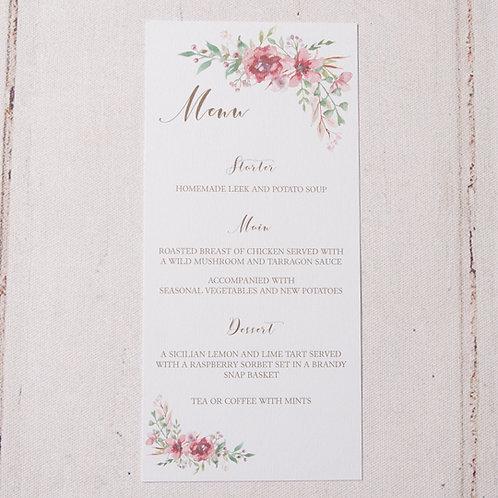 Belle Table Menu