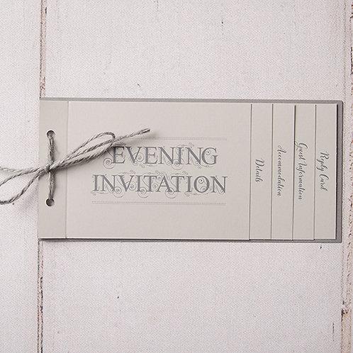 Sadie Cheque Book Style Evening Invitation