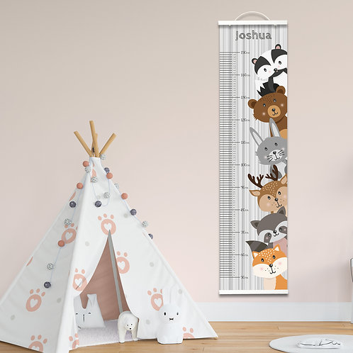 Personalised Woodland Height Chart