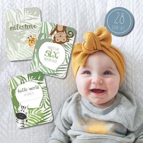 Jungle Baby Milestone Cards