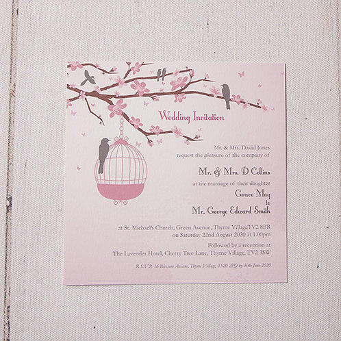 Erin Flat Wedding Invitation