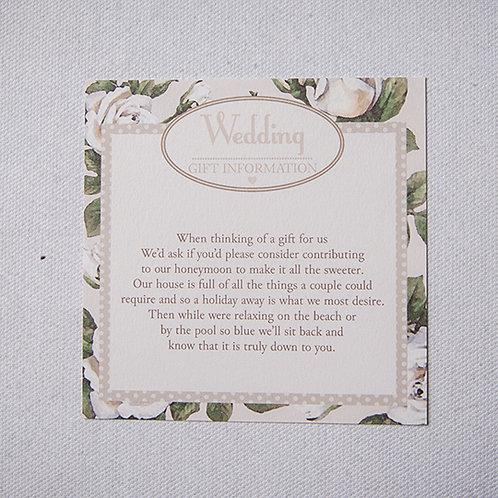 Rose Information Card