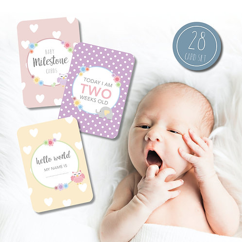Cute Baby Milestone Cards