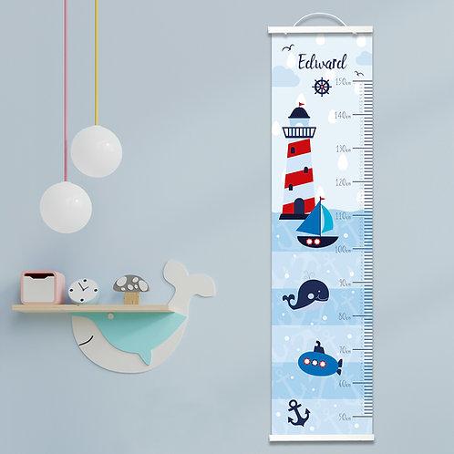 Personalised Nautical Height Chart