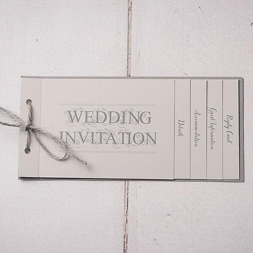 Sadie Cheque Book Style Wedding Invitation