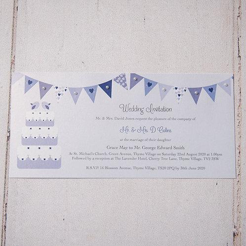 Ava Flat Wedding Invitation