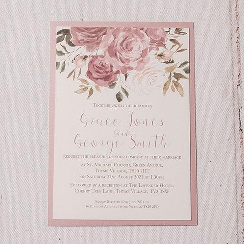 Jessica Flat Wedding Invitation