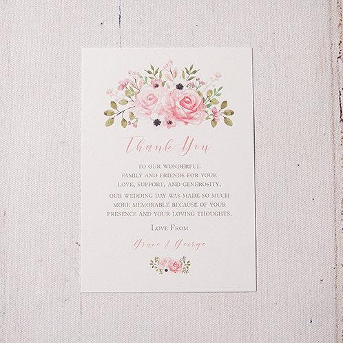 Fleur Thank You Flat Card