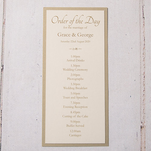 Eleanor Order of Day Card