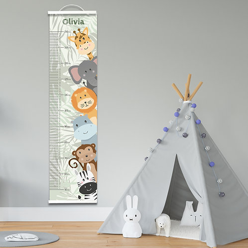 Personalised Jungle Height Chart
