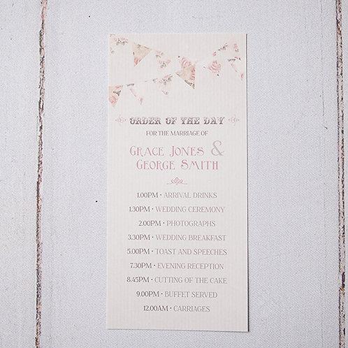 Savannah Order of Day Card