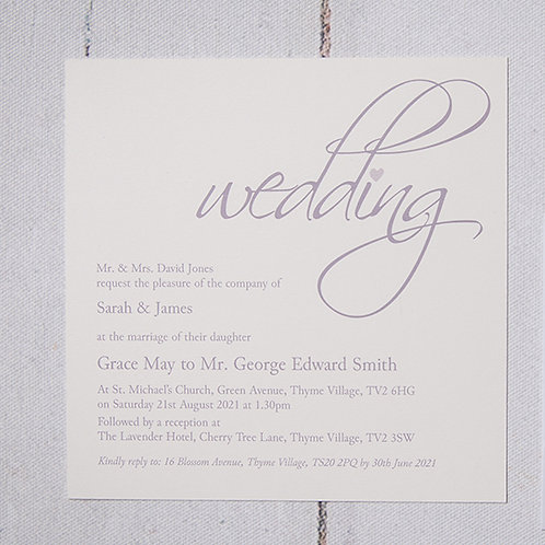 Grace Flat Wedding Invitation