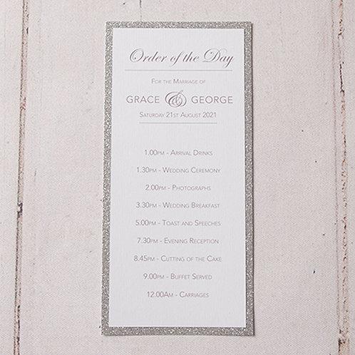 Rebecca Order of Day Card