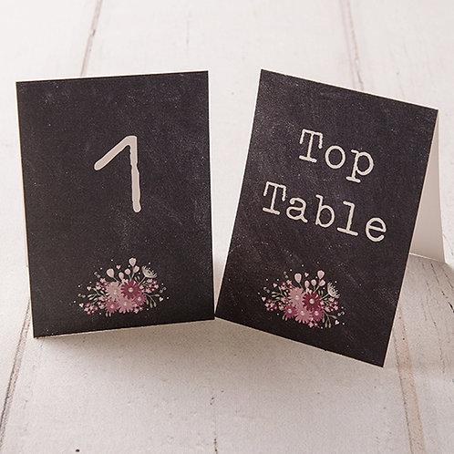 Harriet Table Number