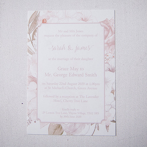 Summer Flat Wedding Invitation