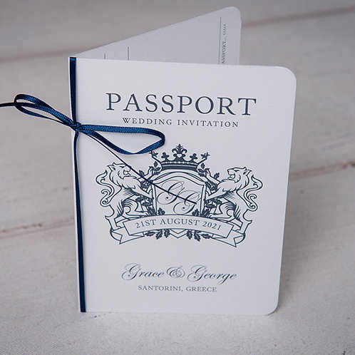 Classic Passport Wedding Invitation