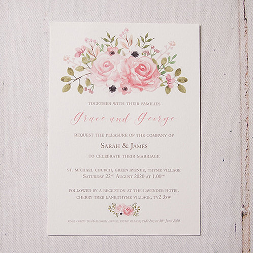 Fleur Flat Wedding Invitation