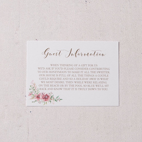 Belle Information Card