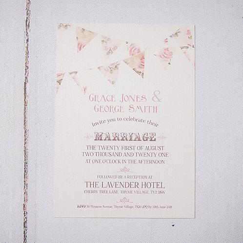 Savannah Flat Wedding Invitation